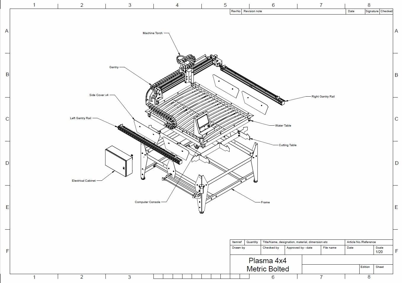 mm x mm 4x4 feet cnc plasma table diy plans from