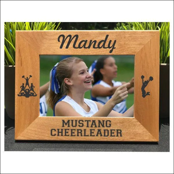 cheerleader personalized engraved photo