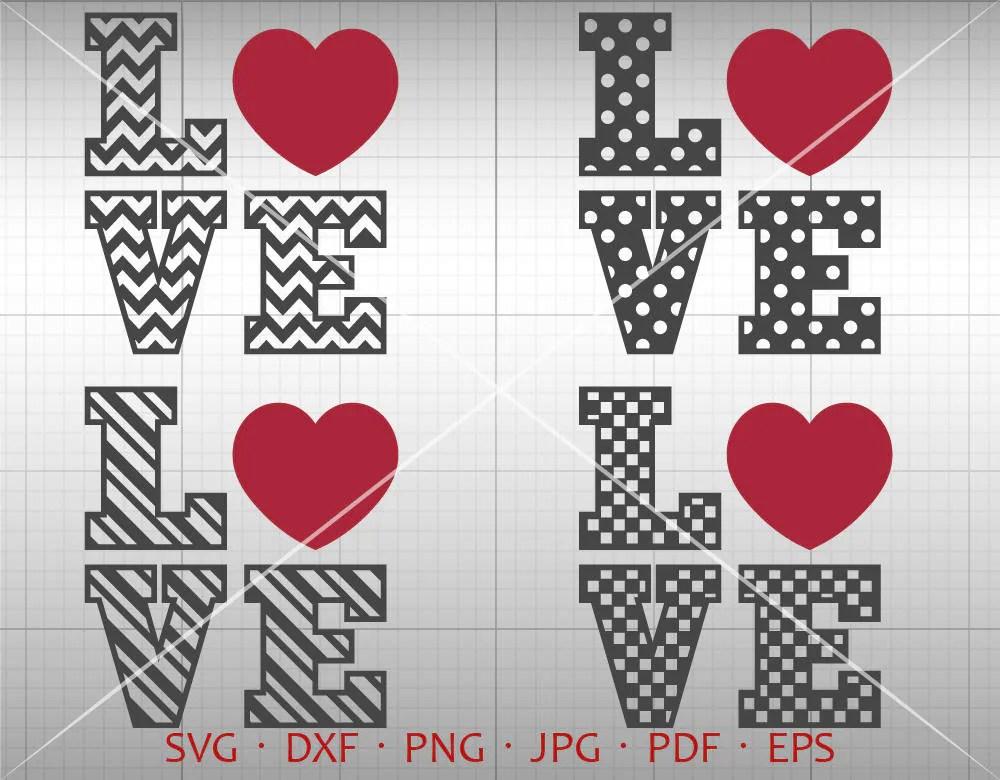Download Love Svg Valentine SVG Valentine's Day Clipart Chevron   Etsy