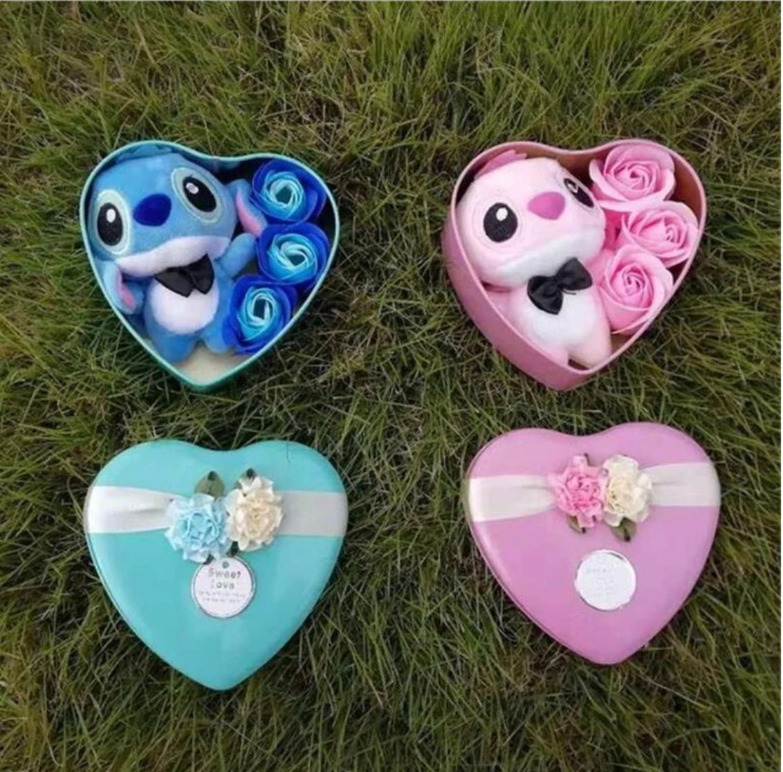 Inspired by disney Handmade lovely stitch plush toys with soap image 1