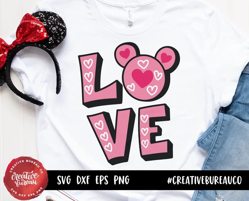 Download Love Mickey Mouse SVG DXF Cut File Mickey Mouse Svg Dxf | Etsy