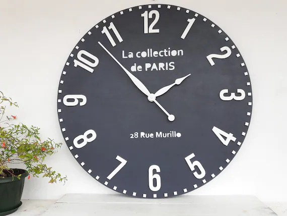big wall clocks for living room online clock 28 inch decor round etsy image 0