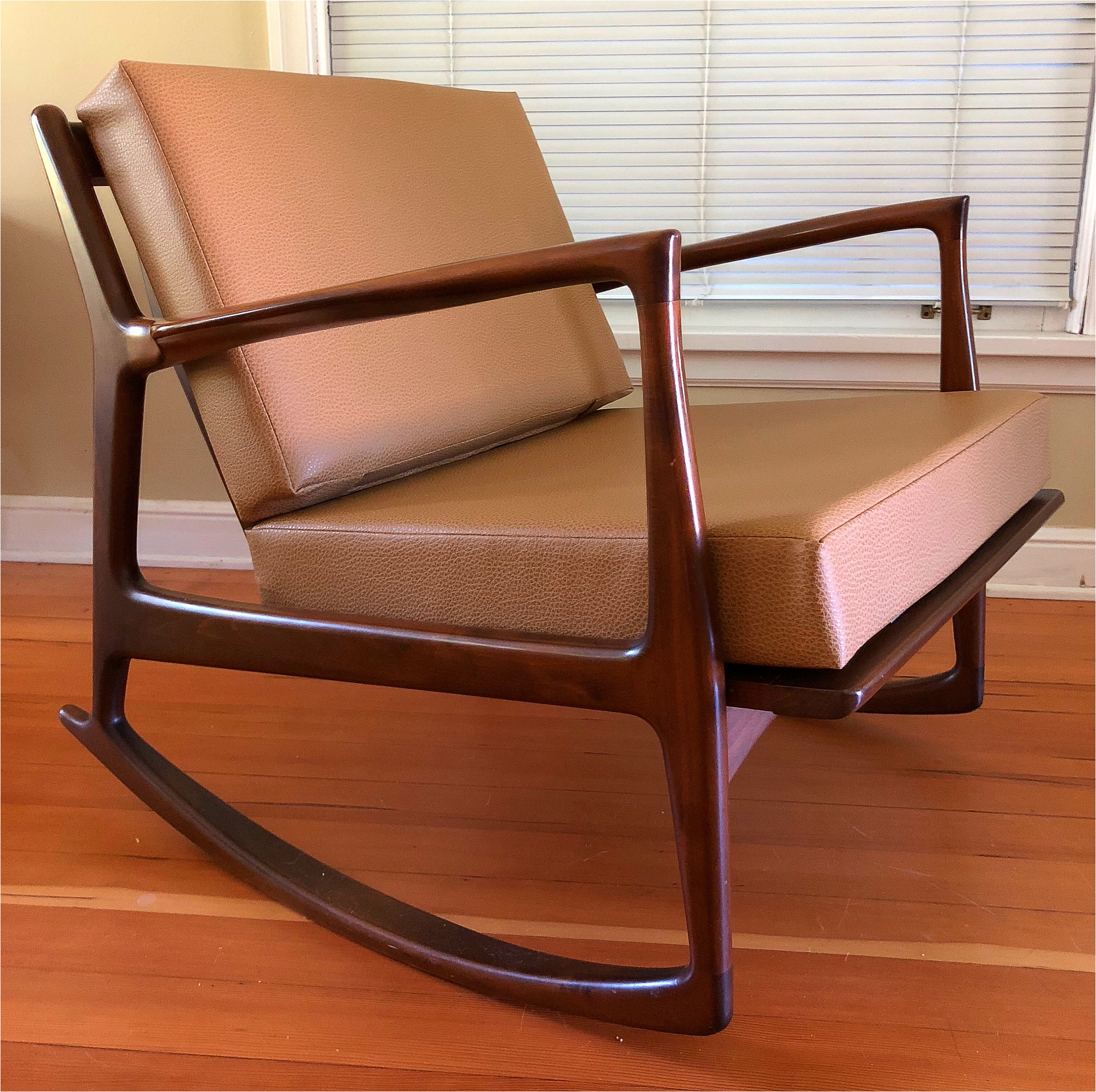 Selig Chair Maxwell Canyon Vinyl Cushions For Ib Kofod Larsen And Z Chairs Selig Danish Modern Mid Century Mcm Tan Brown