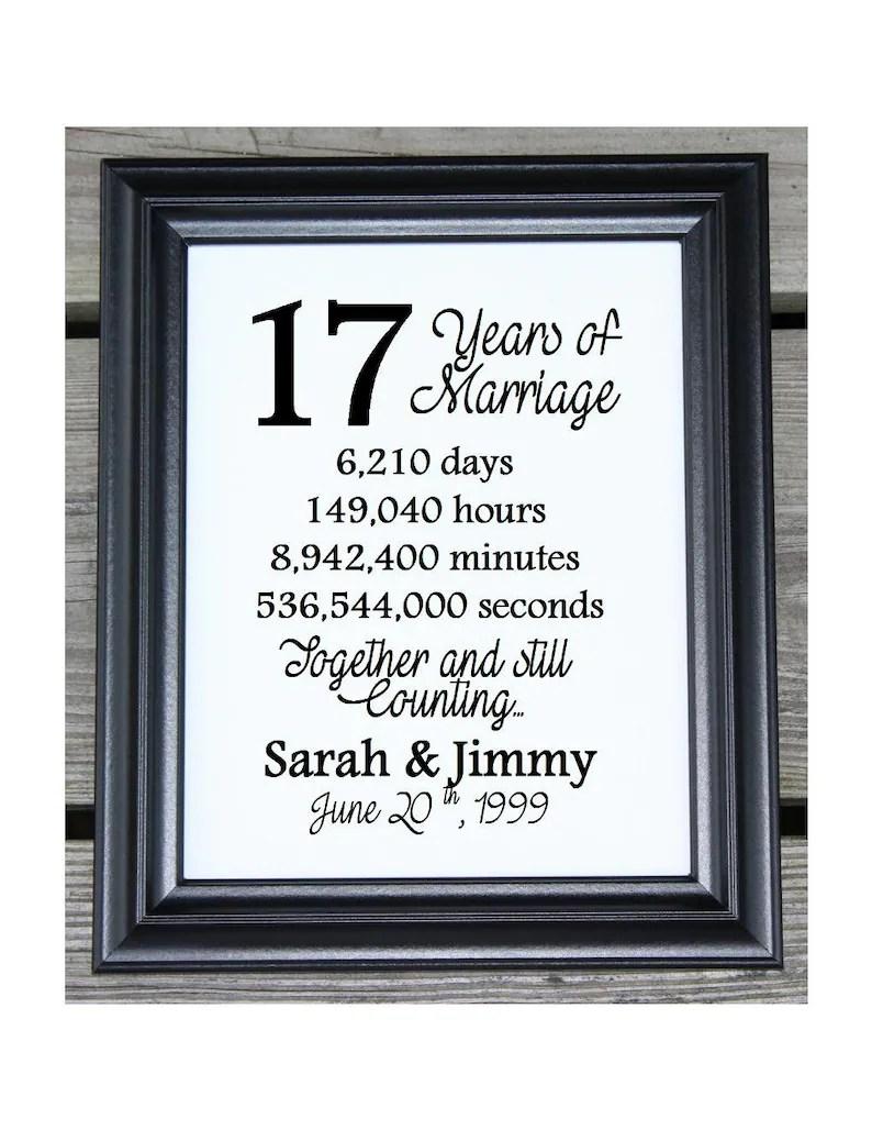17th wedding anniversary cotton