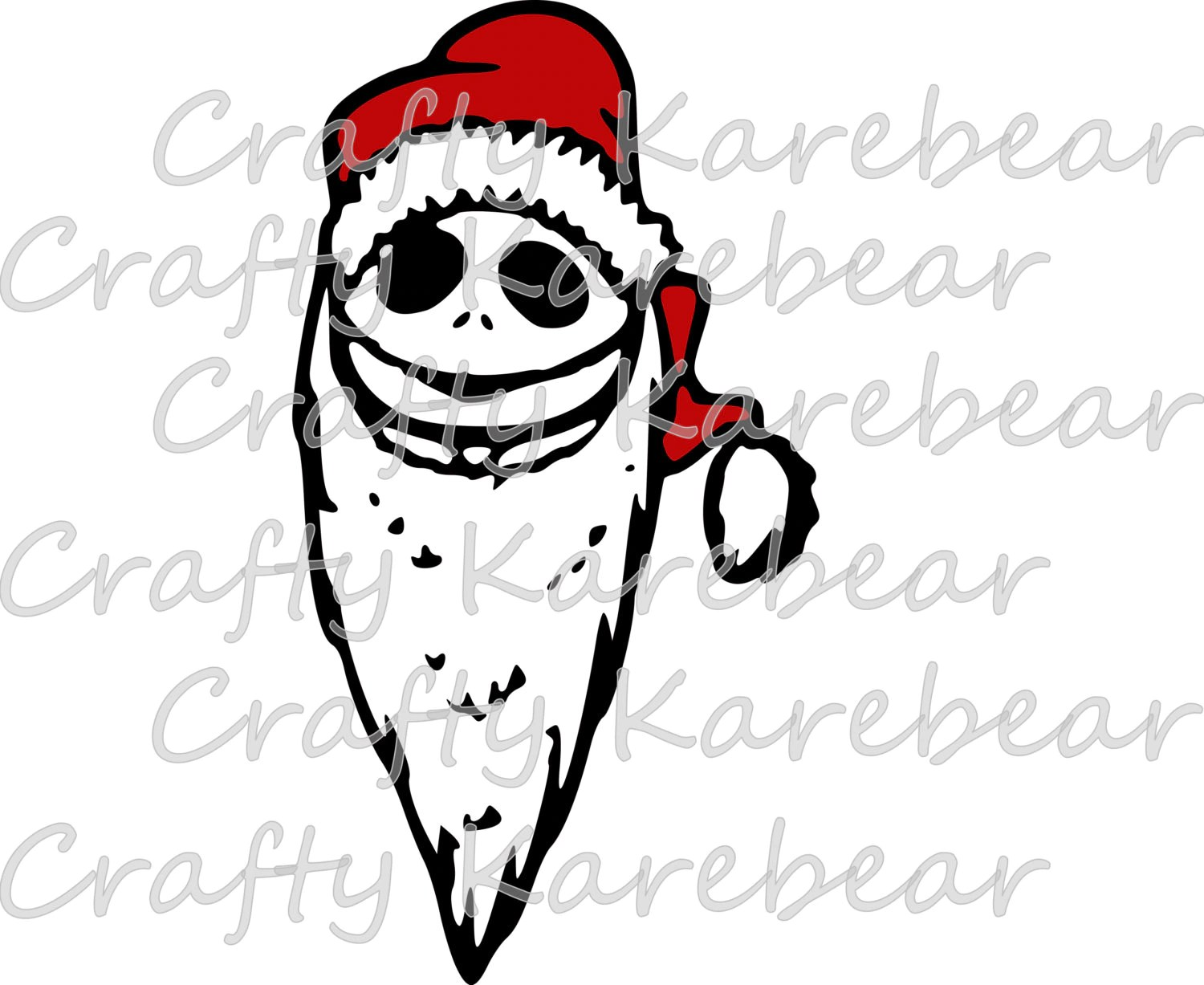 Jack Skellington As Sandy Claws Svg And Dxf File