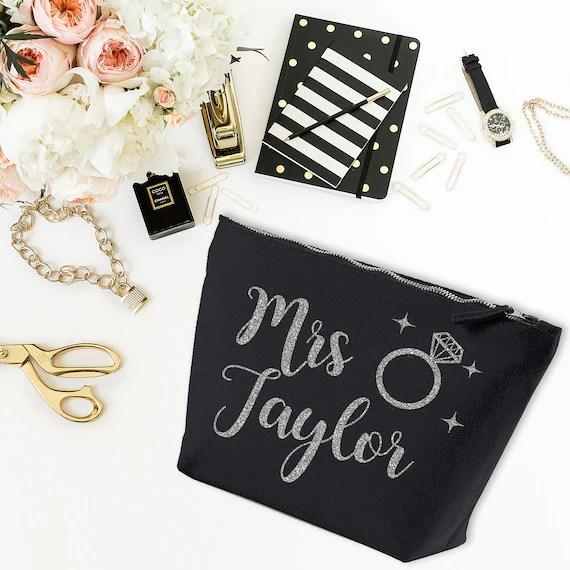 Personalised Mrs Make Up Bag