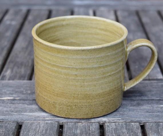 Olive Stoneware Mug by TimFennaCeramics