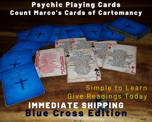 ORIGINAL PSYCHIC Playing Cards! Blue Cross Edition - Give Accurate Psychic Readings!