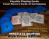 PSYCHIC ORACLE Cards! Blue Cross Edition - Give Accurate Psychic Readings!