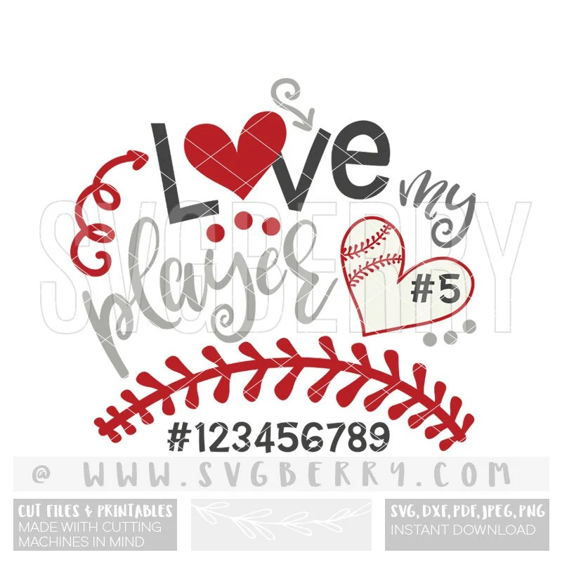 Download Baseball Mom SVG / Love My Player / Loud And Proud ...