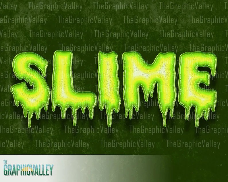 spooky slimy green letters