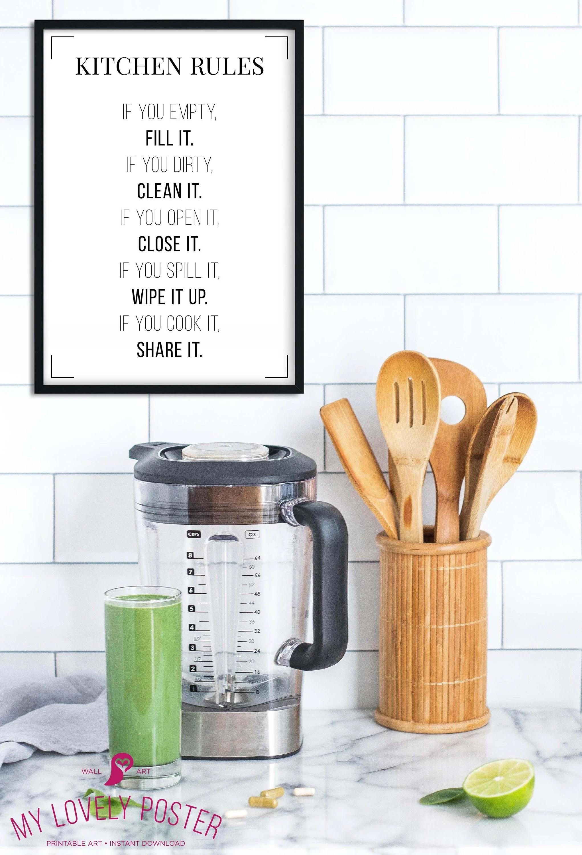 Bilder Poster Küche | Modulare Segeltuchwandkunstdrucke 5 ...