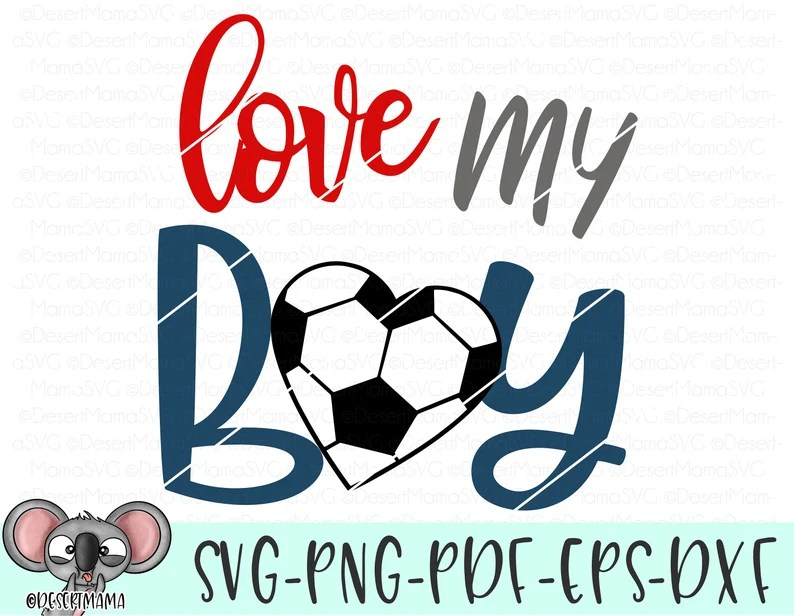 Download Love my boy svg eps dxf png cricut cameo scan N cut cut | Etsy
