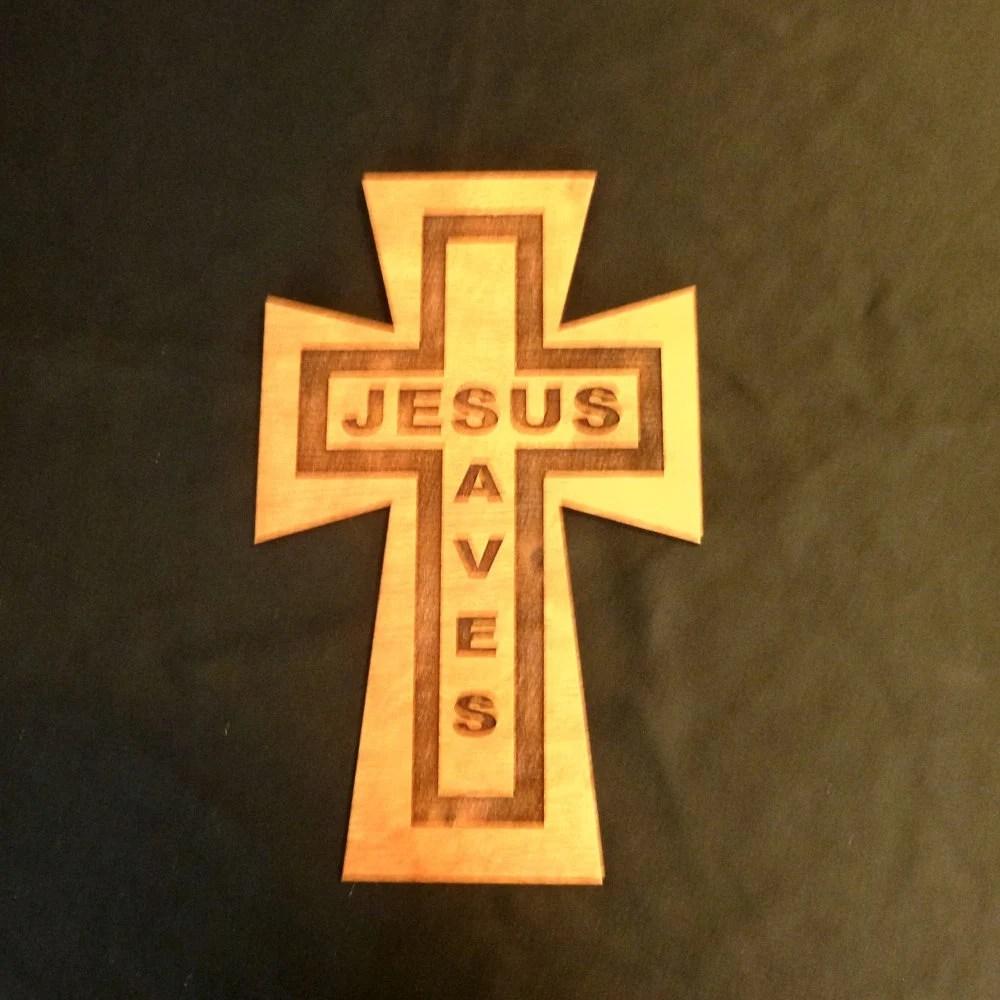 wood wall cross jesus