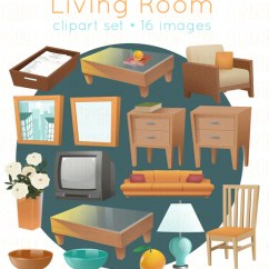 Living Room Pictures Clipart Dining Table In Clip Art Etsy Image 0