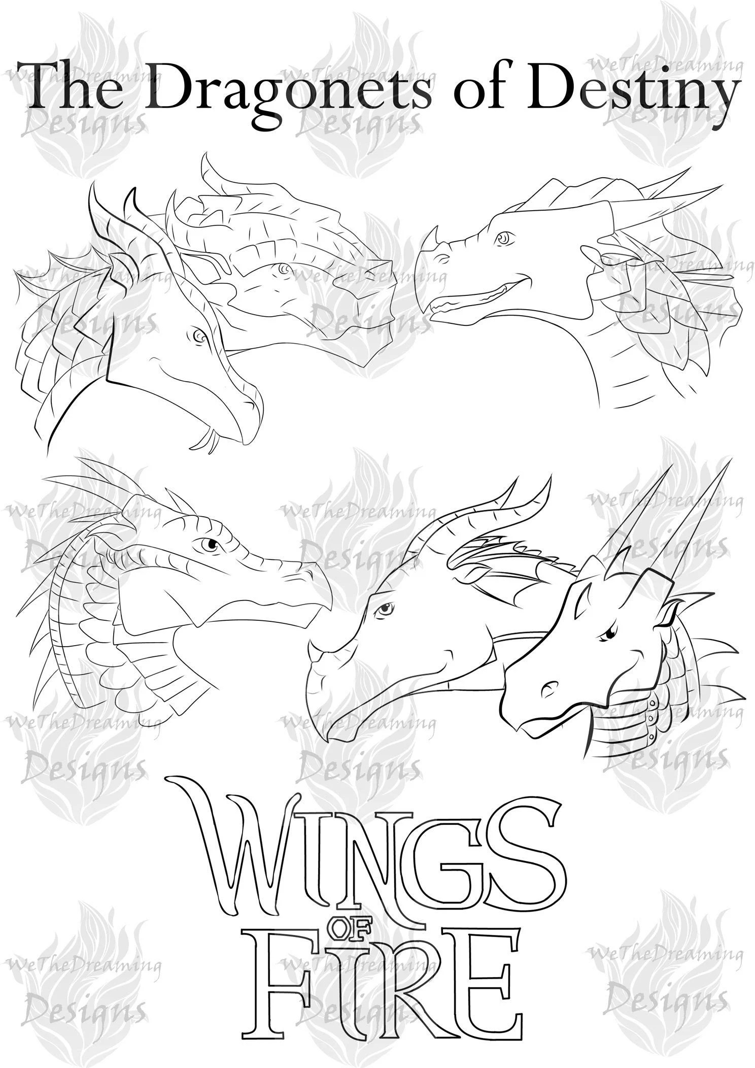 Wings Of Fire Dragon Coloring Pages : wings, dragon, coloring, pages, Wings, DRAGONETS, DESTINY, Printable, Coloring