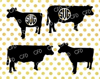 Download Cow cut files | Etsy