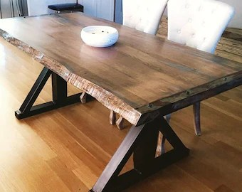 live edge kitchen table island movable etsy