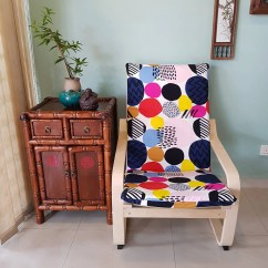 Poang Chair Covers Etsy Maloof For Sale Ikea Cover Polka Bubbles