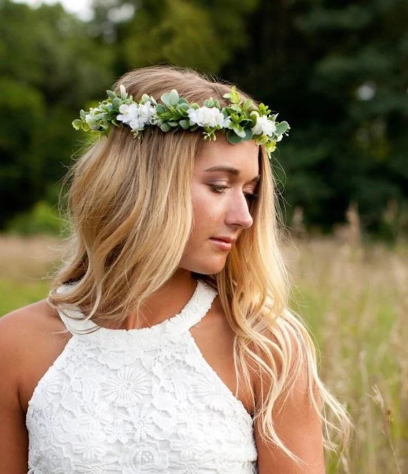 flower crown wedding baby