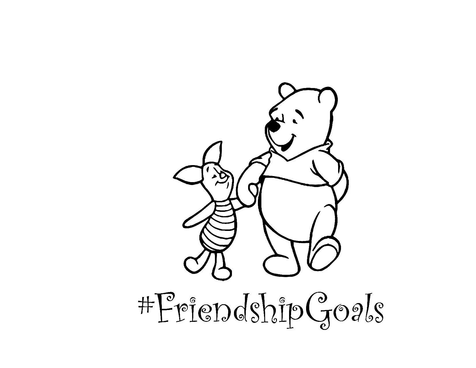 Disney Winnie The Pooh Piglet Friendship Goals Svg Digital