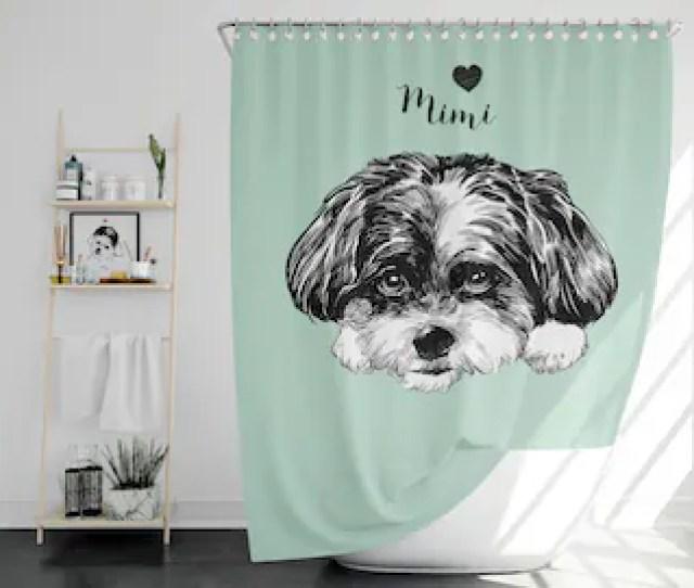 Dog Shower Curtain Etsy