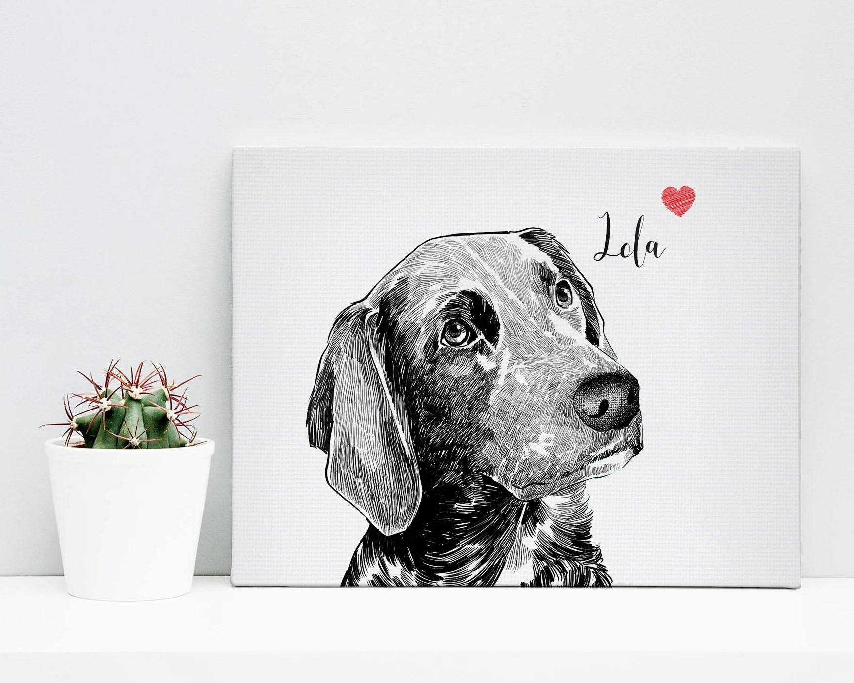 custom pet canvas pet