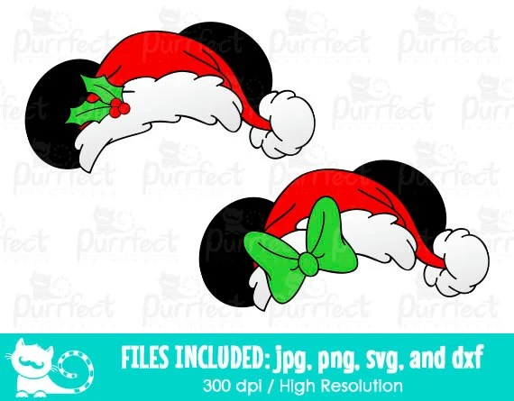 Mickey And Minnie Christmas Ear Hat SVG Disney Christmas