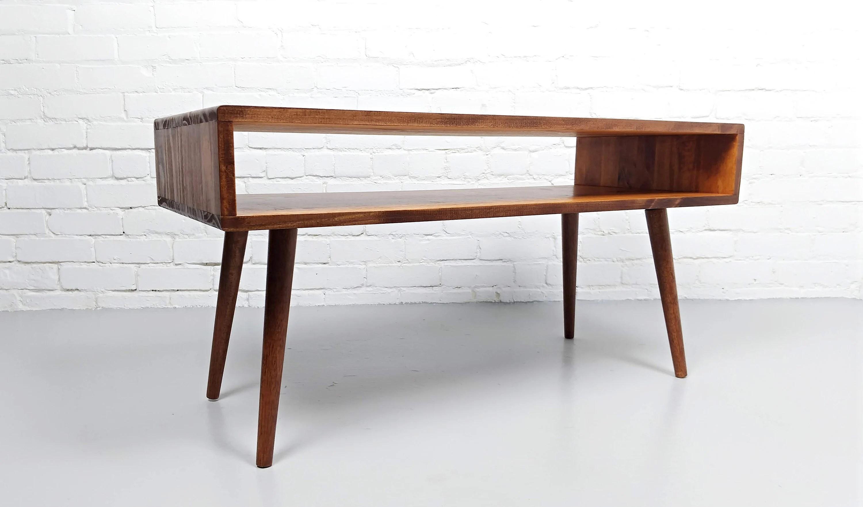 mid century modern coffee table etsy