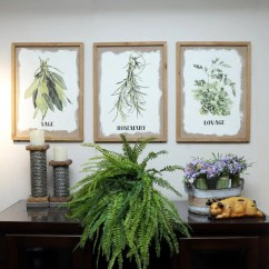 Framed Prints For Kitchens Hgtv Kitchen Backsplash Art Etsy Wood Herb Wall Decor With Culinary Herbs On Burlap Botanical Print Unique Gift Host