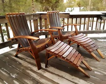 wine barrel chair hammock chairs with stands etsy