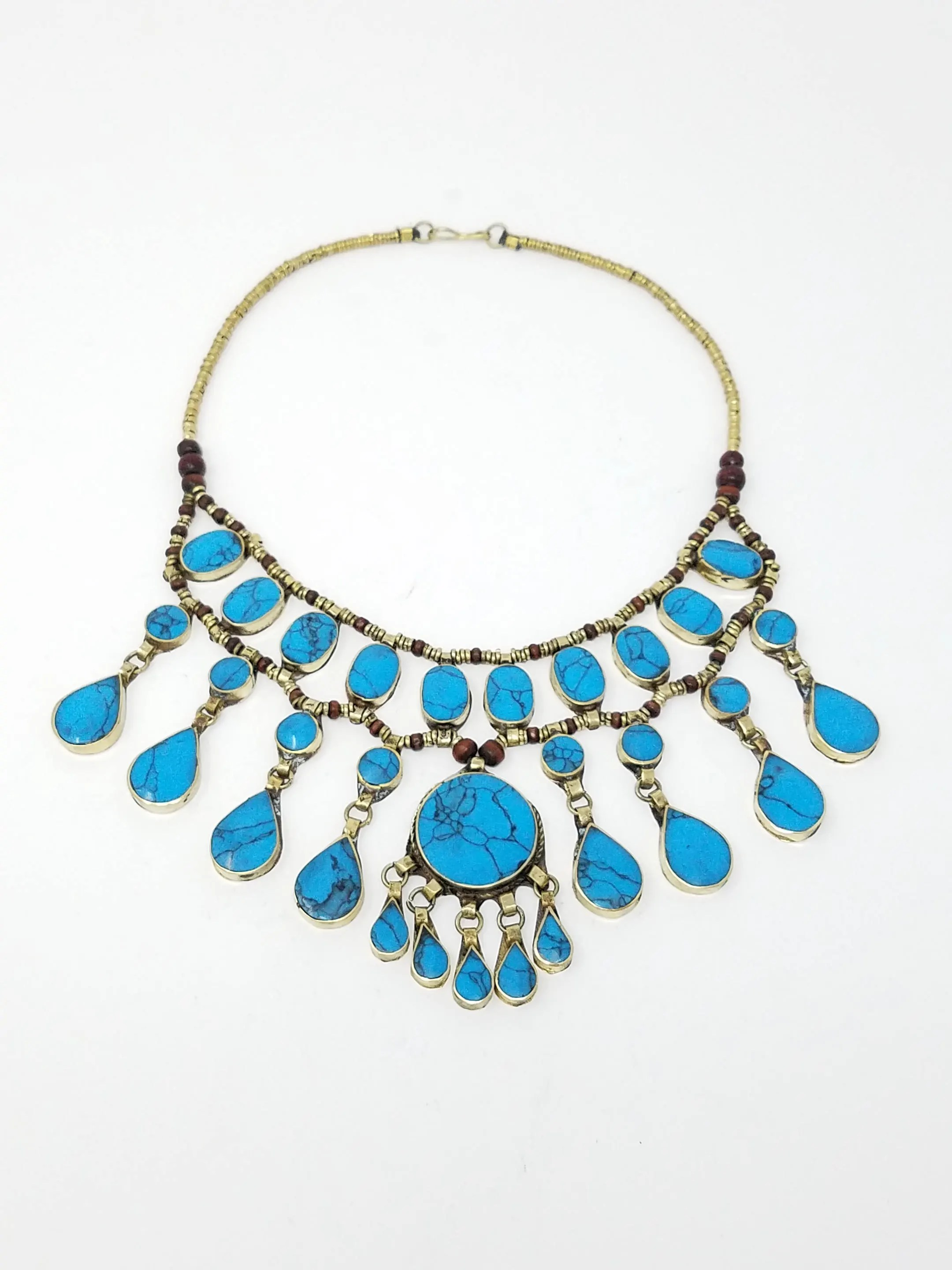 Persian Jewelry : persian, jewelry, Shipping, Beautiful, Turquoise, Necklace, Afghan, Jewelry, Persian, Gypsy