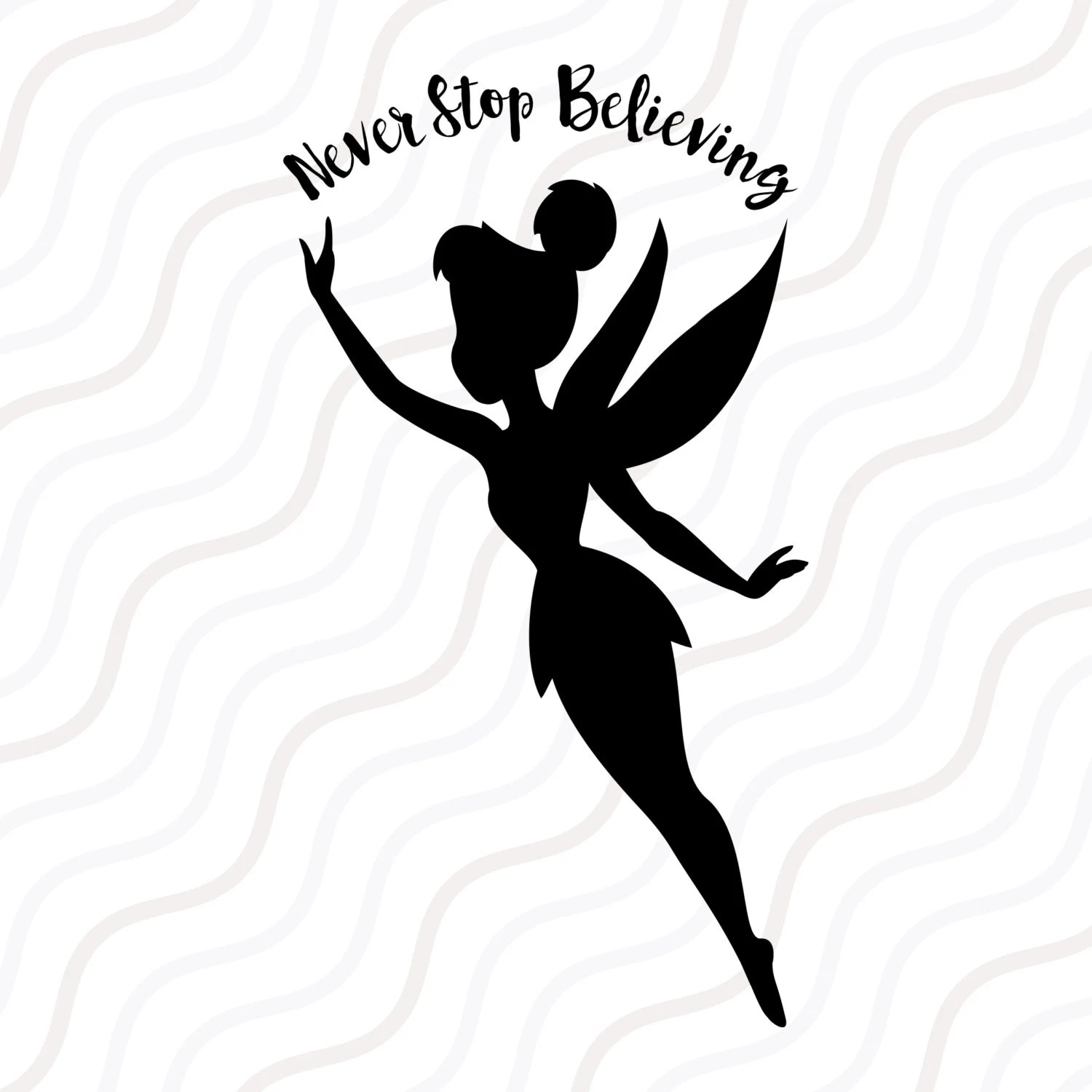 Tinkerbell SVG Tinkerbell DXF Tinkerbell Silhouette SVG