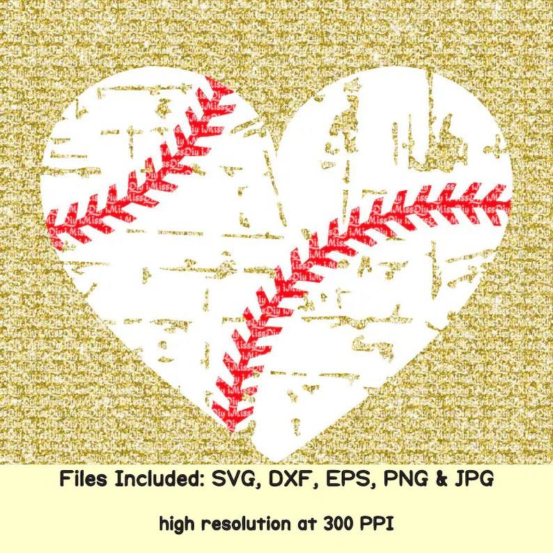 Download Distressed baseball svg mom heart svg sister love baseball ...