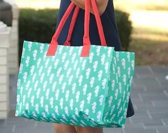 custom beach bag etsy