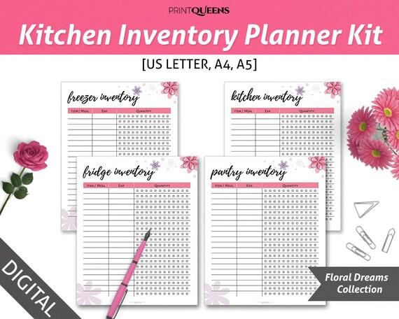 kitchen inventory gray island fridge freezer pantry il 570xn