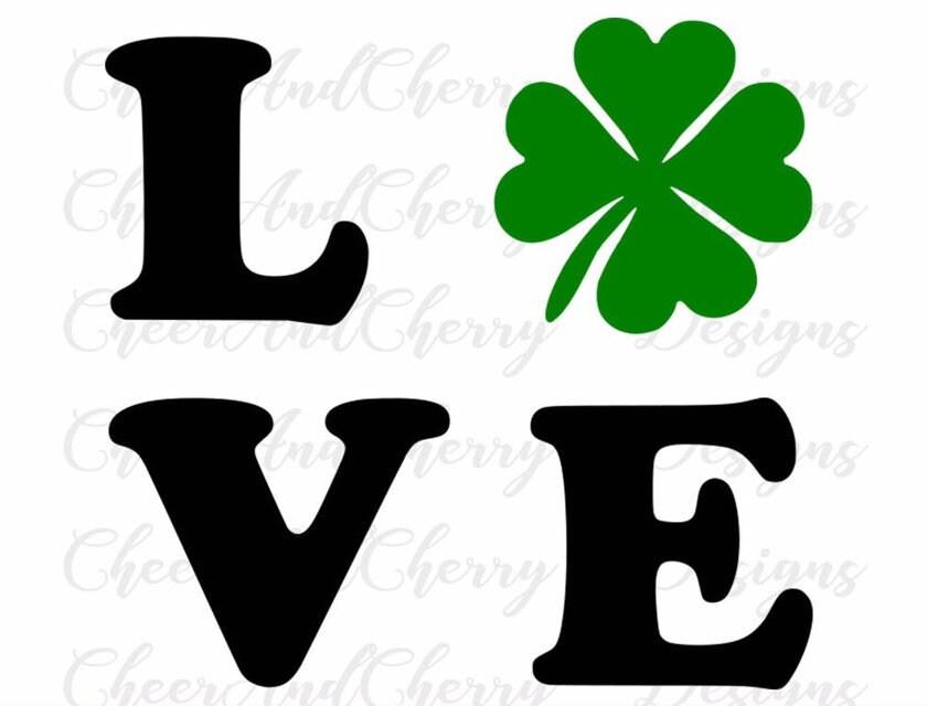 Download St Patricks day svg Love Svg Shamrock svg Lucky Svg for St ...