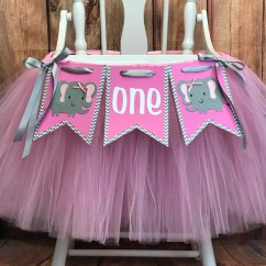 Elephant High Chair Hon Volt Drafting First Birthday Tutu Highchair Etsy Zoom