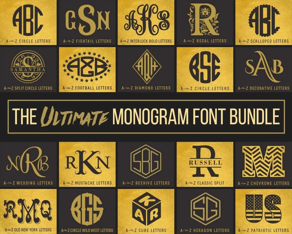 Download Monogram Fonts SVG Font Bundle Svg Files For Cricut Svg   Etsy
