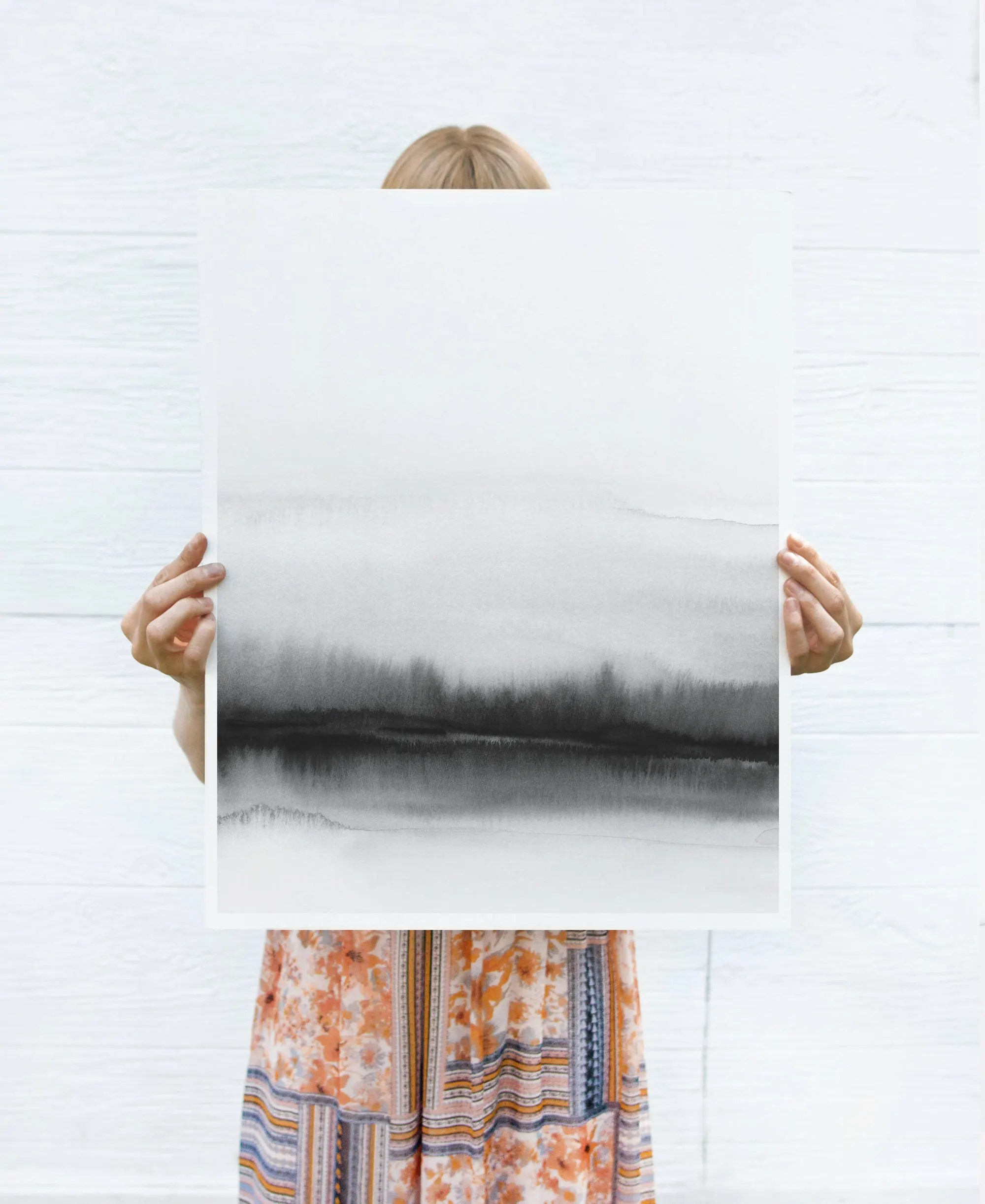 oversized print large watercolor