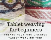 tablet weaving instructions, learn how to weave with viking weaving loom, create your own wool trim and bordures, pdf tutorial for weavers
