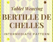 Bertille de Chelles Tunic tablet weaving pattern, intermediate card weaving tutorial, medieval weaving