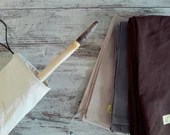 Fabric case for longbow made of durable cotton, with lanyard for closure, for traditional bows, archery accessory, gift for archers