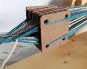Squared tablet for weaving loom, card weaving accessory for reenactment, living history beginners weaving tool, hard wood tablets for yarn