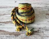 colorful strap for bag, tablet weaving large trim, viking belt costume accessory