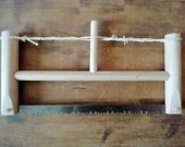 Medieval hand saw, carpenter tools, historical reenactment, middle age carpentry living history
