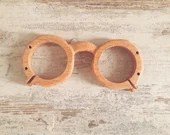 Simple medieval wooden frame for glasses, ideal for historical reenactment, accessories for writing and historical study