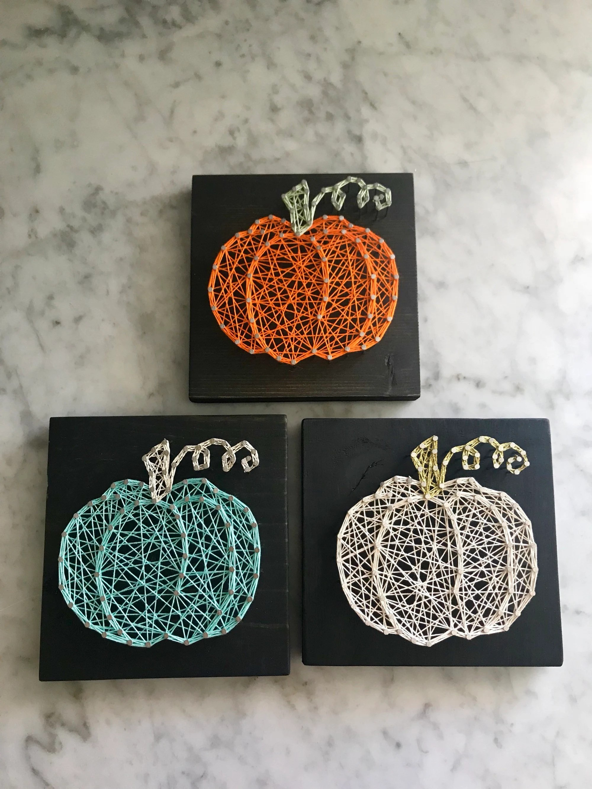 Halloween String Art : halloween, string, Pumpkin, String, Halloween, Decor