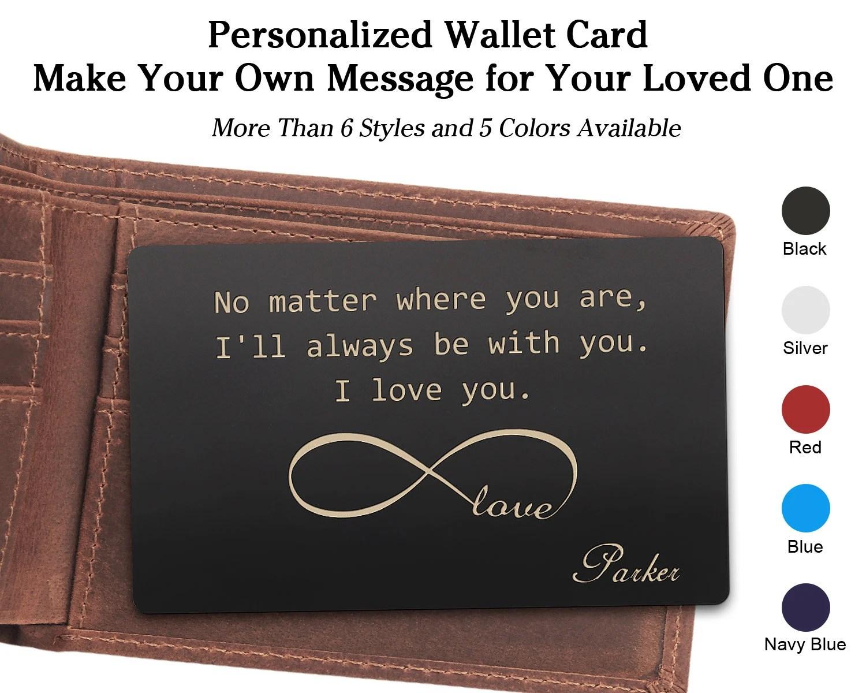 engraved wallet insert card