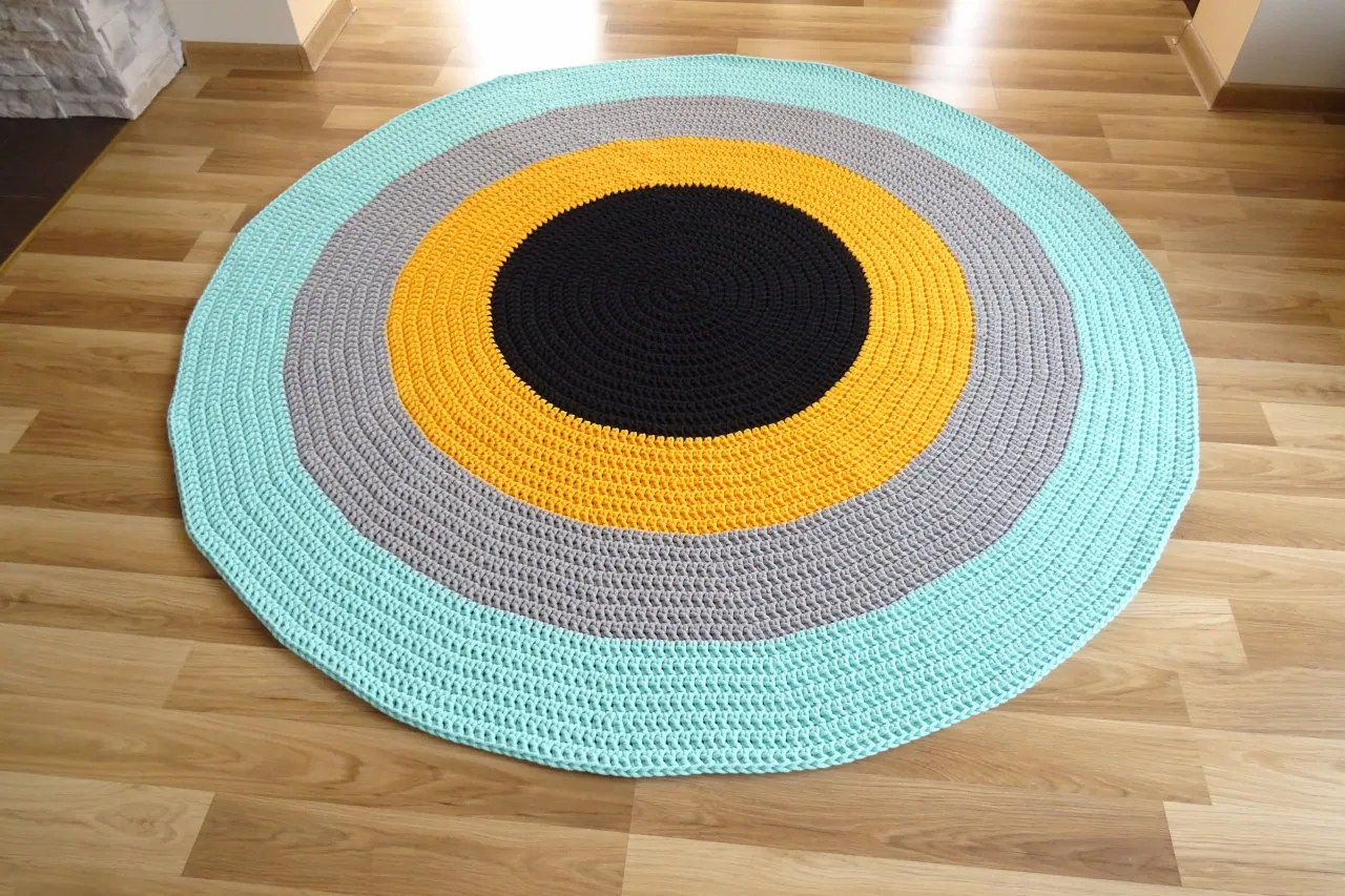 Kinderzimmer Teppich Neutral Crochet Rug Neutral Nursery Decor Decor Girl Kinderzimmer Teppich Carpet Round Vloerkleed Gehaakt Tapis Enfant Alfombra De Trapillo